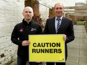Brian Corcoran of Race Harborough and Alastair Campbell of The Ideal Marketing Company