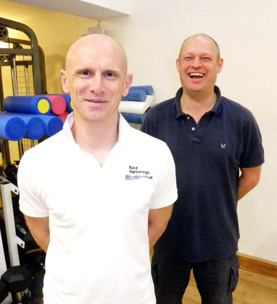 Harborough Triathlon organisers - Alec from Archway Health and Brian from Race Harborough